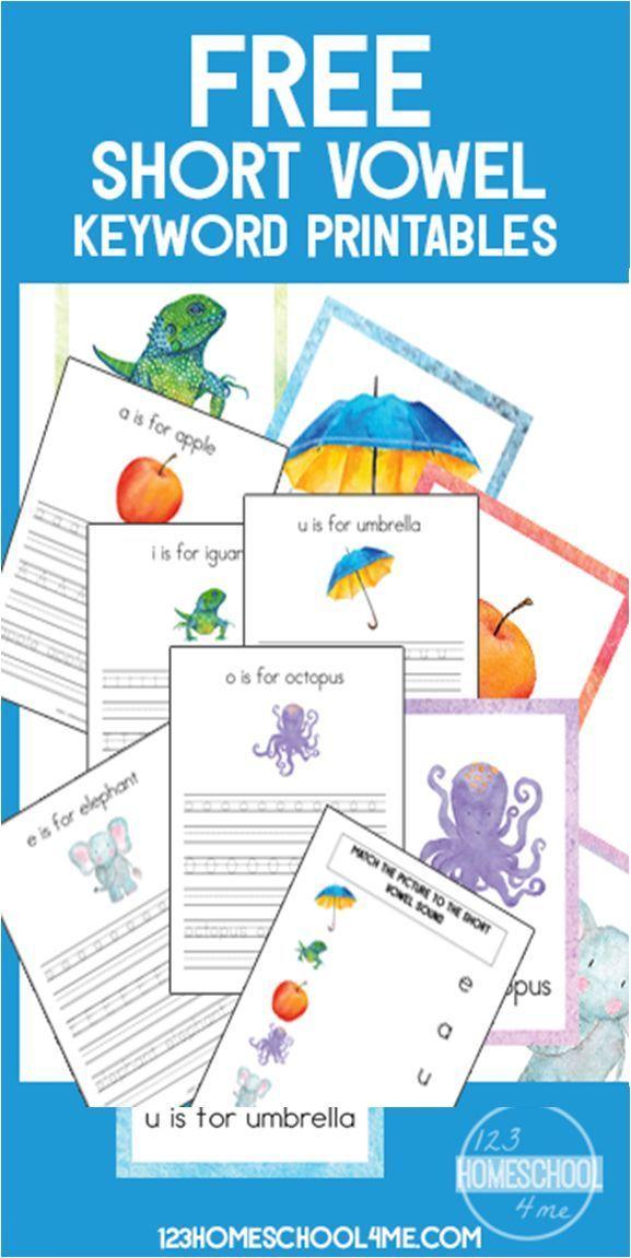 Free Short Vowel Alphabet Wall Cards Alphabet Practice Worksheets
