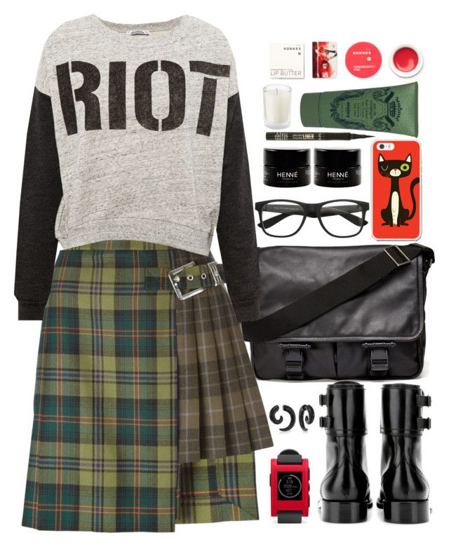 """""""Versus checked pleated mini skirt"""" by crblackflag ❤ liked on Polyvore featuring Givenchy, Pebble, Versus, Pull&Bear, Yves Saint Laurent, Bling Jewelry, Korres, tarte and Sisley Paris"""