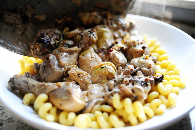 Chicken with Mushrooms and Artichokes | Recipe