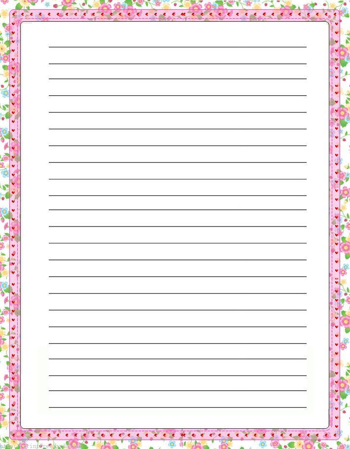 17 Best images about Printable Lined Writing Paper – Free Printable Lined Writing Paper