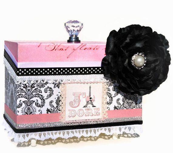 Girls Jewelry Box Decorative Pink Paris Eiffel by BlissfulBoxes $65.00  sc 1 st  Pinterest & 37 best Girls jewelry box images on Pinterest | Girls jewelry box ... Aboutintivar.Com