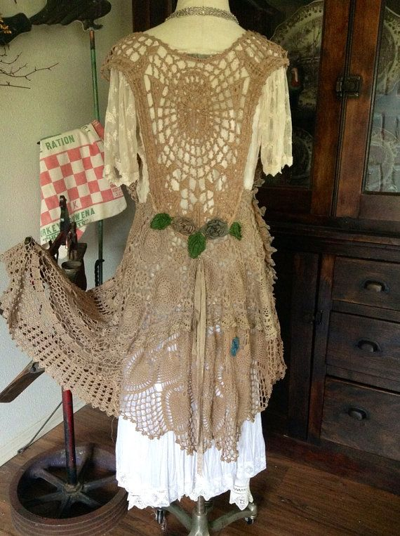 Luv Lucy crochet dress Lucy's Summer Storm  by TheVintageRaven, $225.00