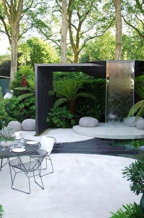35 Modern Landscape Design Ideas For Minimalist Courtyard Garden Homemydesign In 2020 Modern Garden Design Modern Garden Modern Patio