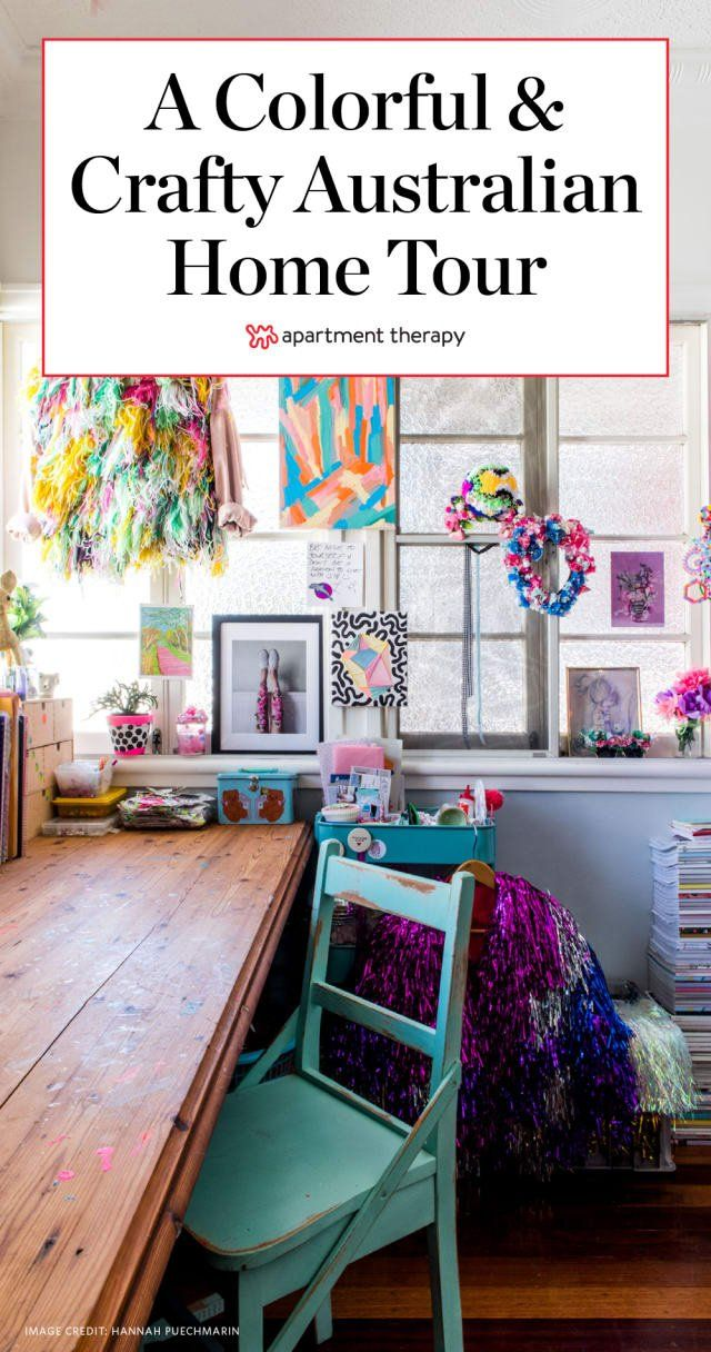 A Colorful Crafty Home In Brisbane For Two Adorable Dachshunds Their Owners Decor Workspace Design Home