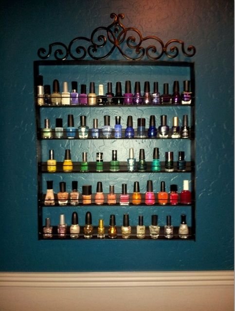 25 Best Images About Nail Polish Wall Rack On Pinterest