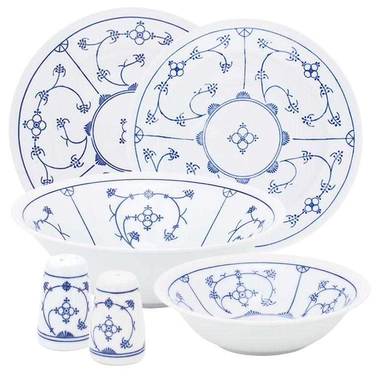 tradition dinner set blau saks kahla porcelain shop dinner table pinterest shops. Black Bedroom Furniture Sets. Home Design Ideas