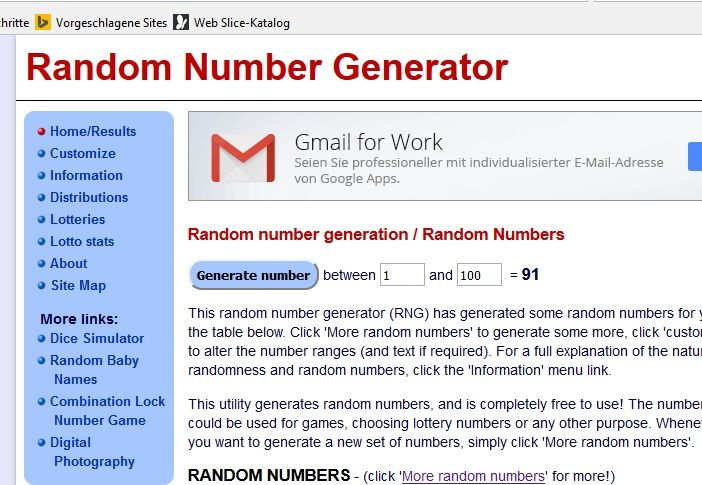 simple  random number picker
