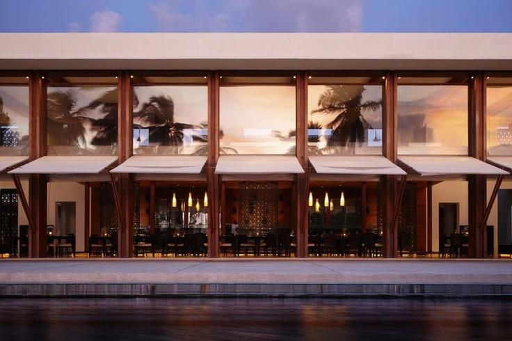 Exterior of the dining room at park hyatt maldives hadahaa for Design hotel f 6 genf
