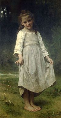 BOUGUEREAU William-Adolphe (1825–1905) - Girl making a curtsey in the painting La révérence