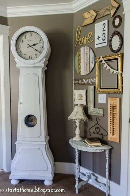 Start at Home: DIY Painted Clock and a Gallery Wall