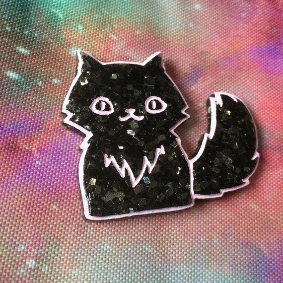 Necklace  Creepy Cute Magical Witch Cat   by SocietyInCrisis