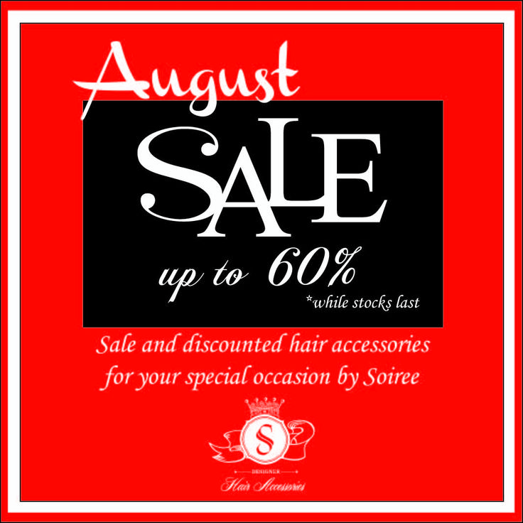 Soiree August Sale! check out our August Sale Album on FB! :)