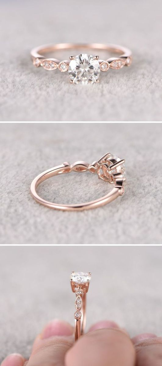 Simple engagement rings you'll want to wear forever (8) #weddingring #simplerings #engagementring