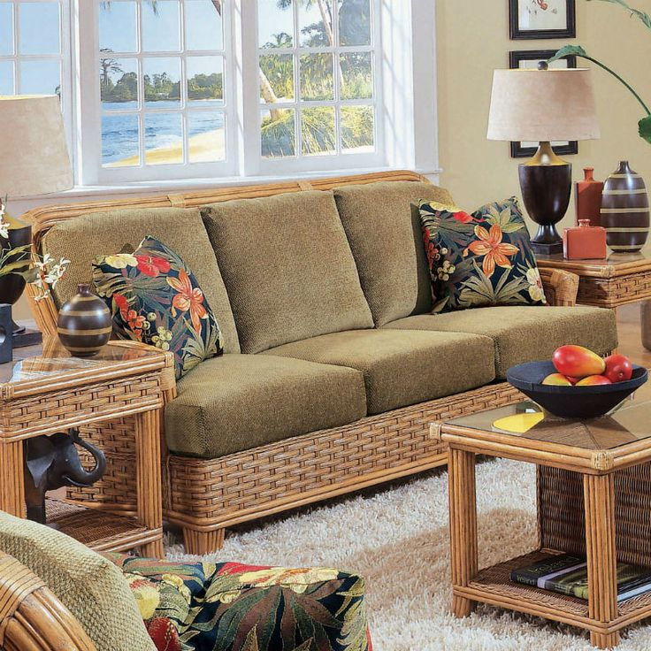 20 best WICKER SLEEPER SOFAS images on Pinterest | Living room set ...