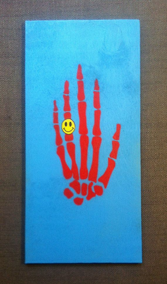 Hand of Death  Original Handmade Stencil Artwork by DrStencil