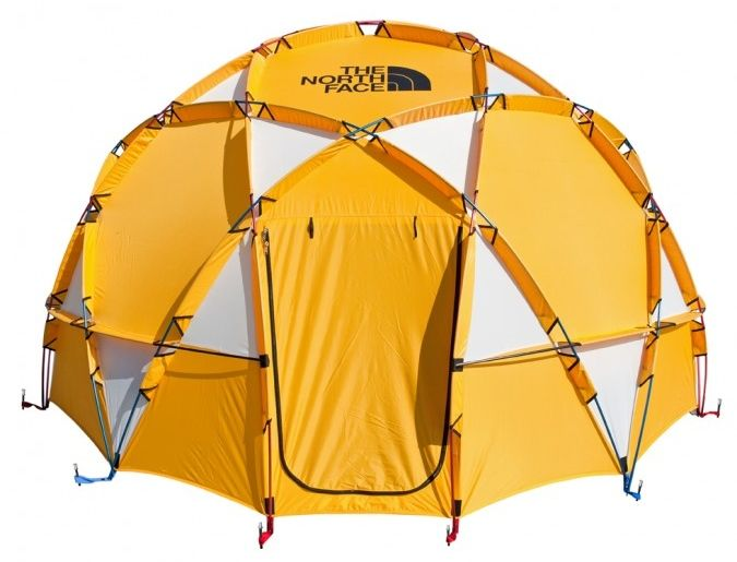 The North Face 2 Metre Dome Tent is an impressive tent by all accounts. It is a massive Geodesic Base camp tent that sleeps up to 8 people.