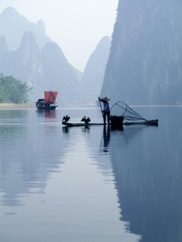 Fishing with Cormorants, Li River, China