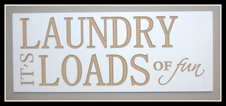 20x8 Laundry Sign