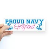 Proud Navy Girlfriend Bumper Sticker for $5.00