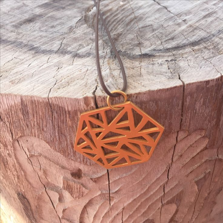 Geometrical pendant Made of brass or silver  See more here: https://m.facebook.com/Dulicious-Handmade-Jewelry-1269101023212373/