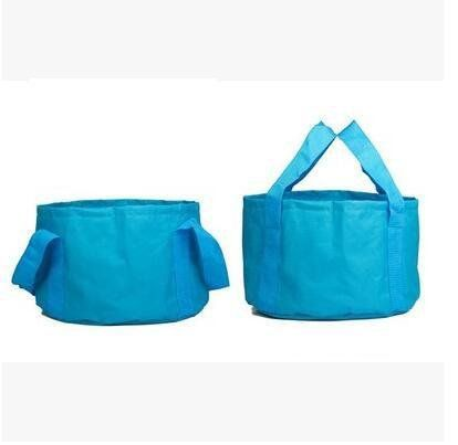 ZZ Portable wash basin wash bucket Outdoor camping Picnic Travel folding basin  blue >>> Check out the image by visiting the link.(This is an Amazon affiliate link and I receive a commission for the sales)