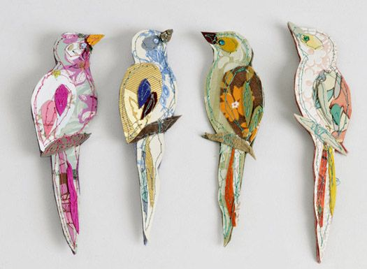 Claire Coles embroidery birds