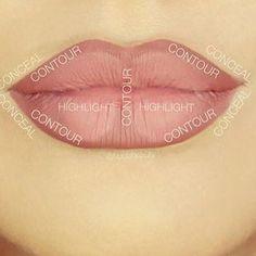 Para aumentar os lábios, experimente este esquema de contorno simples. | 7…