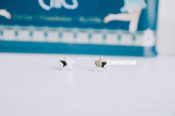 mini star earrings,E010R