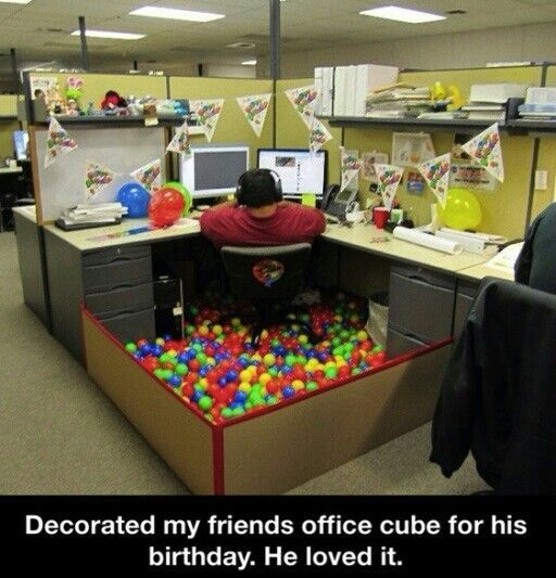 Ballpit Desk Birthday Or Anniversary Decorations Yay