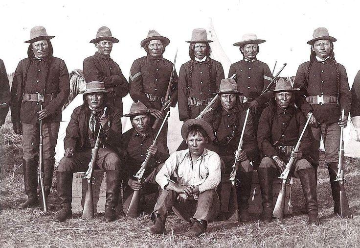 Армейские скауты-шайены. Монтана, конец 19 в.