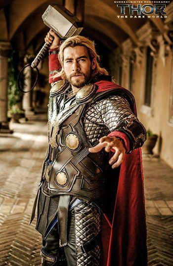 Lance as Thor #cosplay. O_O AMAZING COSPLAY. @Kiera Salkowski Salkowski Salkowski McManus