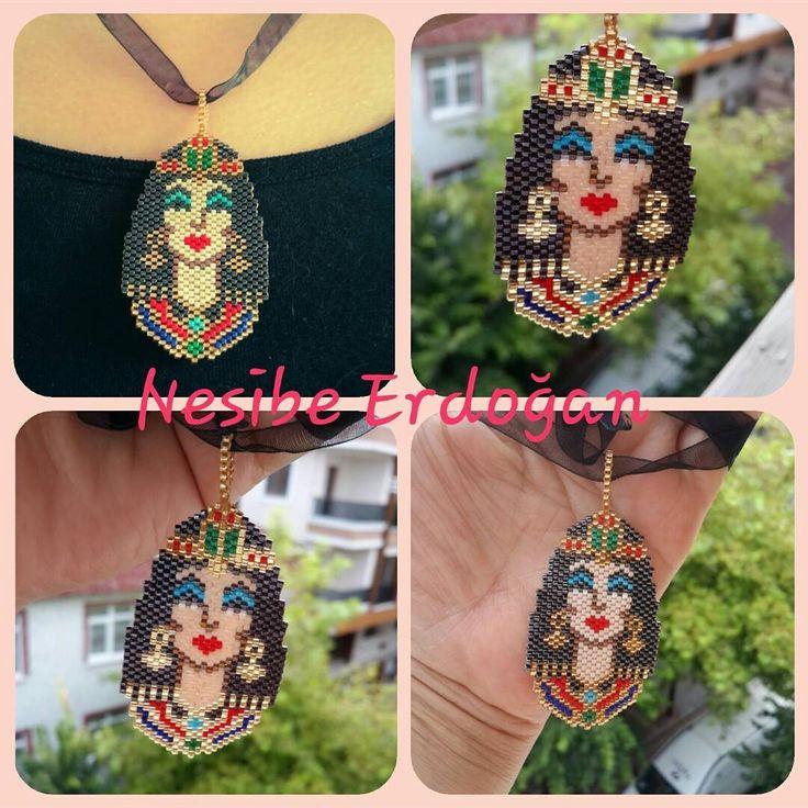 """81 Beğenme, 1 Yorum - Instagram'da Nesibe Erdoğan (@miyuki_takisandigi): """"Kleopatra, Antik Mısır'ın son Hellenistik kraliçesi ☺ #taki #kleopatra #takı #kolye #necklace…"""""""