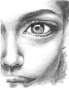 Schau mir in die Augen - Zeichnen Gesichter