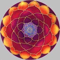 Golden Lotus Flower Mandala