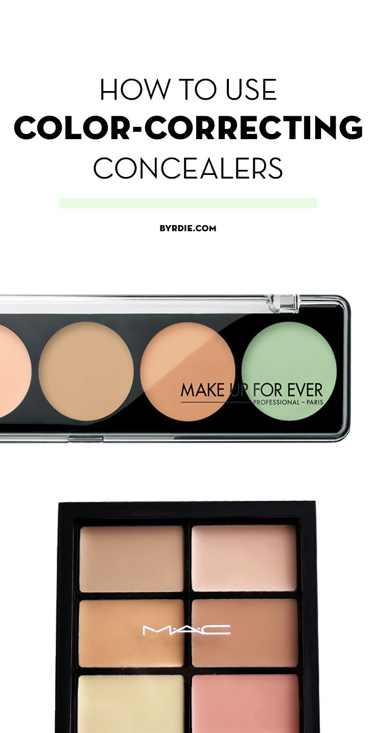Makeup beauty and more jane cosmetics multi colored color correcting - How To Use Every Type Of Color Correcting Concealer Makeup Hacksmakeup Tips Beauty