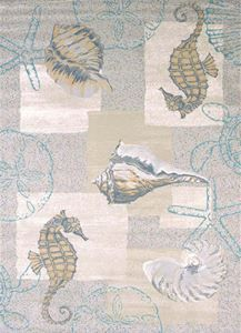 Delectably-Yours.com Modern Textures Natural Mystic Sea Rug Collection by United Weavers