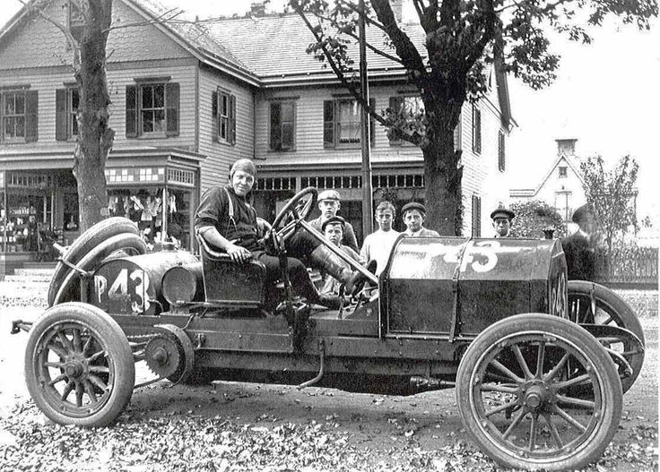 1908 Simplex Speedcar  License plates in 1908 were original as there was no DMV. Vehicle owners went to a licensing office, received a number, and made their own plates.