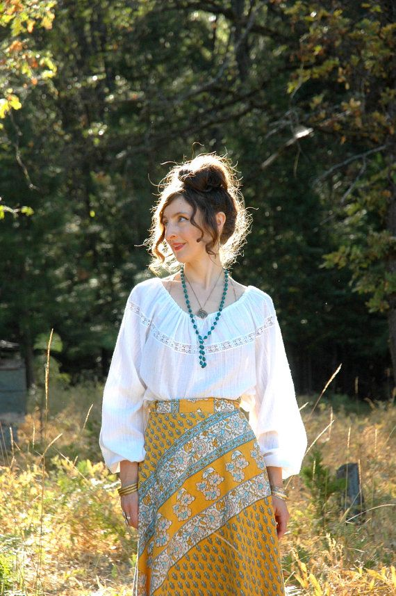 Plus Size Boho Blouse... White Peasant Blouse... by AstralBoutique, $38.00