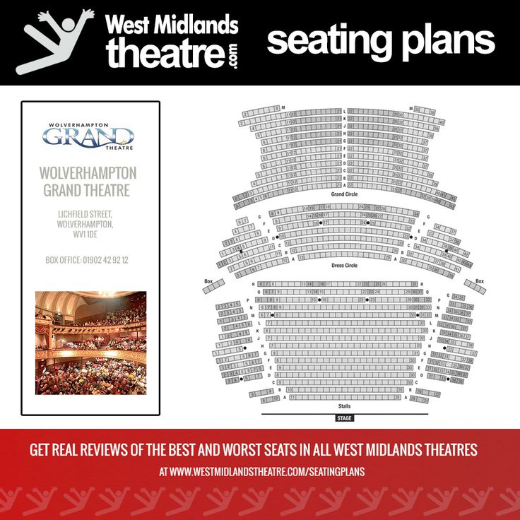 West Midlands Theatre Seating Plan For Wolverhampton Grand