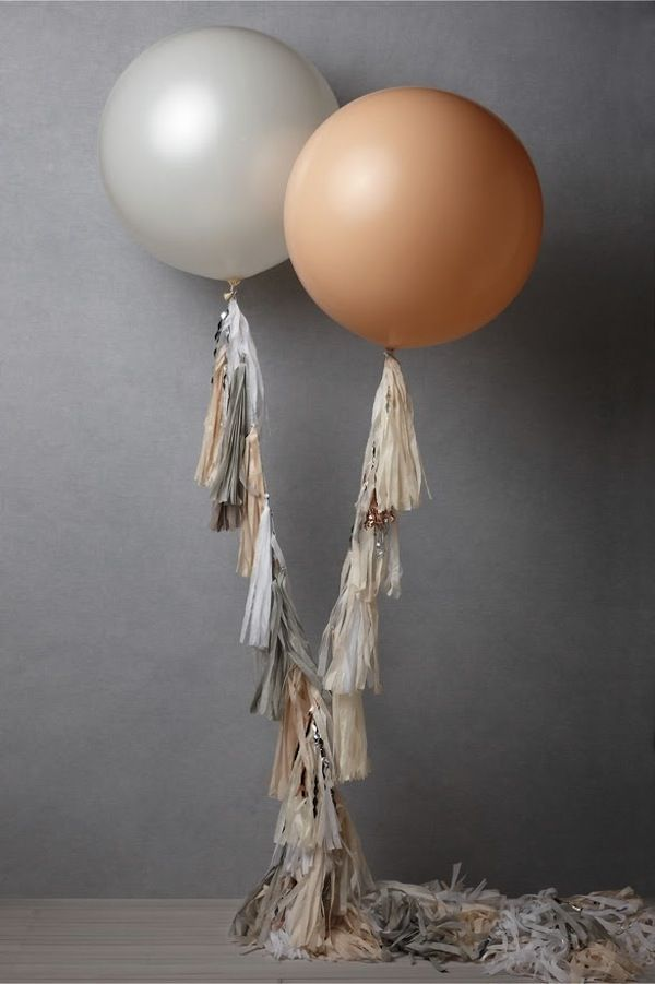 BUY or DIY Geronimo Giant Balloons With Streamers | Bridal Musings | A Chic and Unique Wedding Blog