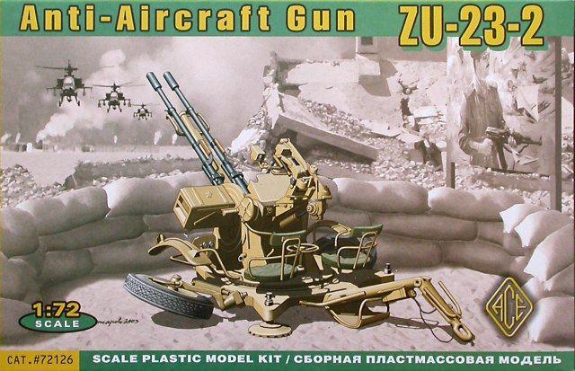ZU-23-2, Anti-Aircraft Gun. Ace, 1/72, initial release 200x, No.72126. Price: Not Sold.