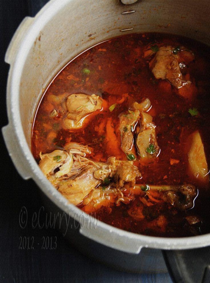 Sunday Chicken Curry - Robibar er Murgir Jhol  http://www.ecurry.com/blog/indian/curries/gravies/robibar-er-murgi-r-jhol-sunday-afternoon-chicken-curry/
