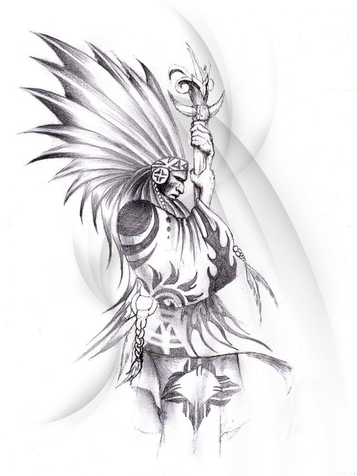 23 best indian warrior tattoo drawings images on pinterest for Native american warrior tattoos