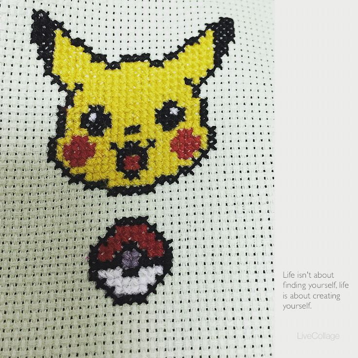 Cross stitch of Pokemon