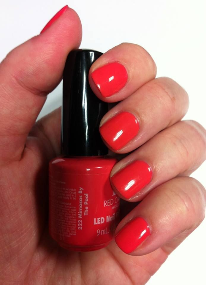 Red Carpet Manicure Mimosas By The Pool Gel Polish #redcarpetmanicure #gelpolish #nails #red