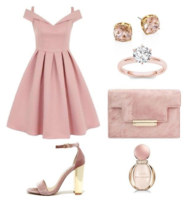 """pink"" by meysiskatikha on Polyvore featuring Chi Chi, Steve Madden, Tory Burch and Bulgari"