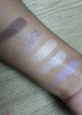 Swatches of NYX For Your Eyes Only Palette