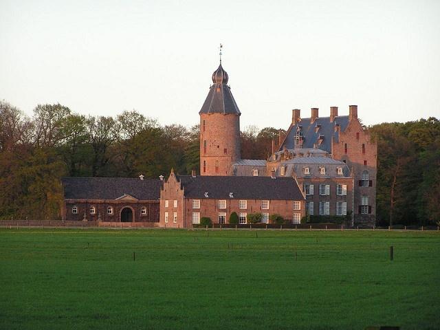 Rechteren Castle in Overijssel, Netherlands