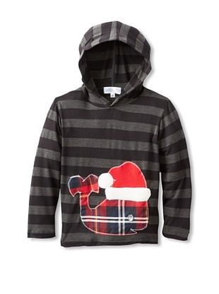 62% OFF Tilly & Jax Boy's Whale Stripe Hoodie (Black/Grey)
