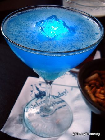 """""""Glow-tini"""" is the one light-up drink you know you can find pretty much everywhere. Packing quite a punch with Citrus Vodka, Peach Schnapps, Blue Curacao, Pineapple Juice, and occasionally some Sweet and Sour, the Glow-tini may look like a weak cocktail, but it could really knock your socks off!"""
